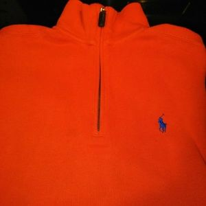 Polo Ralph Lauren Ribbed Quarter Zip Pullover
